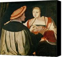 Engagement Canvas Prints - The Engagement Canvas Print by Lucas van Leyden