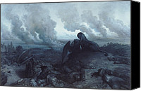 Grey Clouds Painting Canvas Prints - The Enigma Canvas Print by Gustave Dore