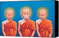 Tibetan Buddhism Painting Canvas Prints - The Enlightened One Canvas Print by Alessandra  Desole