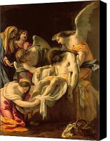 Son Canvas Prints - The Entombment Canvas Print by Simon Vouet