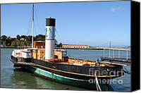 Hyde Street Pier Canvas Prints - The Eppleton Hall . A 1914 Steam Sidewheeler Tug Boat At The Hyde Street Pier in SF . 7D14123 Canvas Print by Wingsdomain Art and Photography