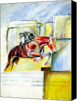 Horse Art Canvas Prints - The Equestrian Canvas Print by Tom Conway