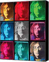 Photo Manipulation Pastels Canvas Prints - The Essence of Light- John Lennon Canvas Print by Jimi Bush