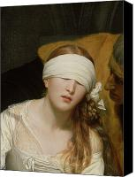 Scared Painting Canvas Prints - The Execution of Lady Jane Grey Canvas Print by Hippolyte Delaroche