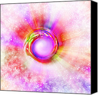 Abstract Stars Digital Art Canvas Prints - The eye of lights Canvas Print by Setsiri Silapasuwanchai