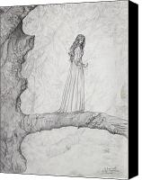 Fantasy Drawings Canvas Prints - The Faerie Queen Canvas Print by Judy Riggenbach