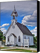 Church Photos Canvas Prints - The Fairplay Church Canvas Print by Ken Smith