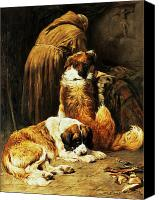 Asleep Painting Canvas Prints - The Faith of Saint Bernard Canvas Print by John Emms