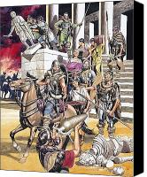 Barbarian Canvas Prints - The Fall of the Roman Empire in the West Canvas Print by Ron Embleton