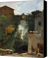 Ruin Painting Canvas Prints - The Falls of Tivoli Canvas Print by Jean Honore Fragonard