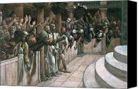 Tissot Canvas Prints - The False Witness Canvas Print by Tissot