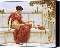 Toga Canvas Prints - The Favorite Canvas Print by John William Godward