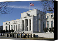 Washington Dc Canvas Prints - The Federal Reserve in Washington DC Canvas Print by Brendan Reals