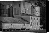 Feed Mill Canvas Prints - The Feed Mill Canvas Print by Tamera James