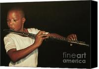 African American Canvas Prints - The Fifer I Canvas Print by Curtis James