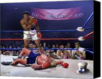 All-star Painting Canvas Prints - The Fight of The Century - June 28 1971 C-vs-US Canvas Print by Reggie Duffie