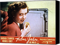 1950 Movies Canvas Prints - The File On Thelma Jordon, Barbara Canvas Print by Everett