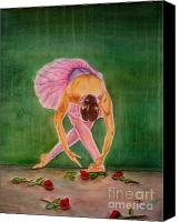 Dance Ballet Roses  Canvas Prints - The Finale Canvas Print by Bonnie Schallermeir