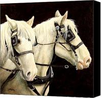 Horse Canvas Prints - The Fire Brigade... Canvas Print by Will Bullas