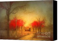 Benches Canvas Prints - The Fire Trees Canvas Print by Tara Turner