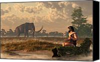 Ice Age Canvas Prints - The First American Wildlife Artist Canvas Print by Daniel Eskridge