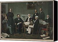Politics Photo Canvas Prints - The First Reading Of The Emancipation Canvas Print by Everett