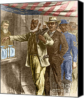 Important Canvas Prints - The First Vote, 1867 Canvas Print by Photo Researchers