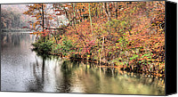 Mountain Trails Canvas Prints - The Fishing Spot Canvas Print by JC Findley