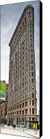 Nyc Photo Canvas Prints - The Flat Iron Building Canvas Print by John Farnan