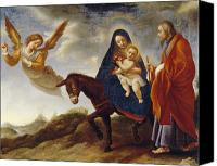 Mother Of God Canvas Prints - The Flight into Egypt Canvas Print by Carlo Dolci