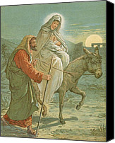 Donkey Painting Canvas Prints - The Flight into Egypt Canvas Print by John Lawson