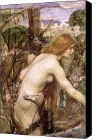 Picker Canvas Prints - The Flower Picker  Canvas Print by John William Waterhouse