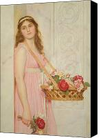 Later Canvas Prints - The Flower Seller Canvas Print by George Lawrence Bulleid