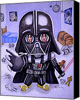 Little Boy Canvas Prints - The Force is Strong with this One Canvas Print by Al  Molina