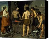 Myths Canvas Prints - The Forge of Vulcan Canvas Print by Diego Velazquez