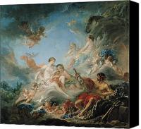 Putti Painting Canvas Prints - The Forge of Vulcan Canvas Print by Francois Boucher