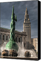 Public Square Canvas Prints - The Fountain of Eternal Life Canvas Print by At Lands End Photography