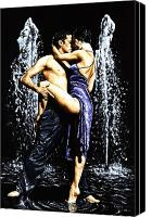 Couple Painting Canvas Prints - The Fountain of Tango Canvas Print by Richard Young