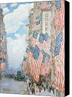 Parade Painting Canvas Prints - The Fourth of July Canvas Print by Childe Hassam