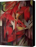 Abstract Expressionist Canvas Prints - The Fox Canvas Print by Franz Marc