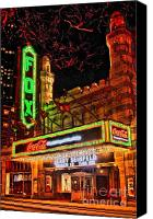 Photographers Atlanta Canvas Prints - The Fox Theater Atlanta Ga. Canvas Print by Corky Willis Atlanta Photography