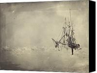 Appearance Canvas Prints - The Frams Hull Was Built To Stand Canvas Print by Fridtjof Nansen