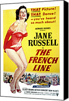Opera Gloves Canvas Prints - The French Line, Jane Russell, 1954 Canvas Print by Everett