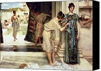 Toga Canvas Prints - The Frigidarium Canvas Print by Sir Lawrence Alma-Tadema
