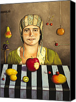 Mango Canvas Prints - The Fruit Collector 2 Canvas Print by Leah Saulnier The Painting Maniac