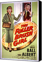 1950 Movies Canvas Prints - The Fuller Brush Girl, Lucille Ball Canvas Print by Everett