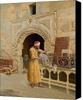 Arab Canvas Prints - The Furniture Maker Canvas Print by Ludwig Deutsch