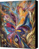 Signed Canvas Prints - The Galilee Iris Canvas Print by Elena Kotliarker