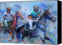 Game Pastels Canvas Prints - The Game Is On Canvas Print by Bonnie Goedecke