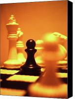 Chess Set Canvas Prints - The Games We Play Canvas Print by Thomas Woolworth